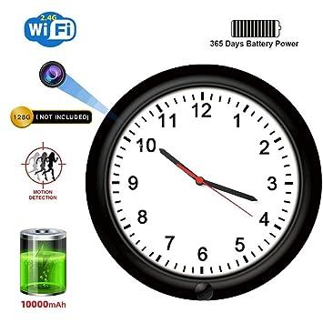 Amazon.com: SDETER Cámara oculta, 720P WiFi Espía Reloj de ...