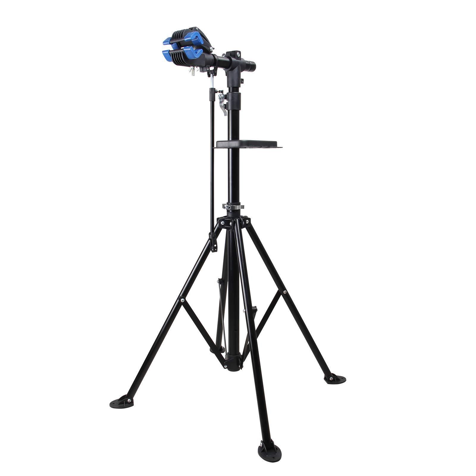 Yorbay, Soporte caballete plegable para bicicletas, altura ajustable desde 110 - 200 cm,