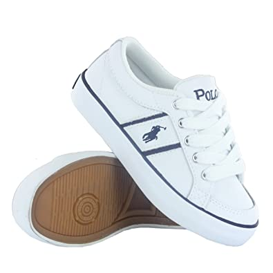16dd17b49716 Ralph Lauren Bollingbrook White Kids Trainers Size 1 UK  Amazon.co.uk  Shoes    Bags