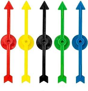 Killow 25 Piezas 5 Colores Flecha de Spinner de Juego de Plástico para Escuela, Spinner de Juego de Tablero (10 cm): Amazon.es: Juguetes y juegos