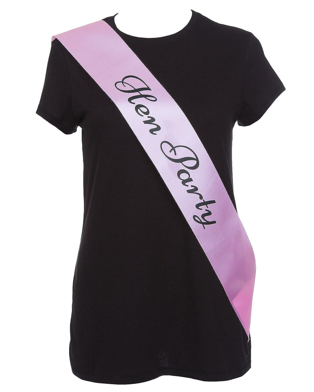 BULK DELUXE BLACK /& PINK ELEGANT HEN PARTY SASH FANCY DRESS HEN NIGHT LADIES