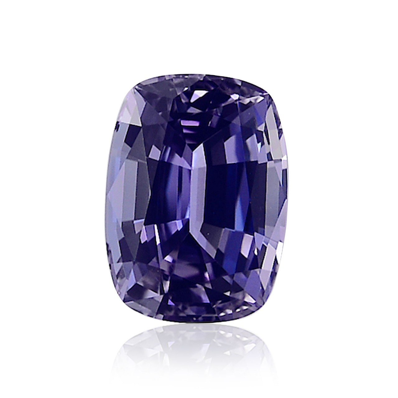 5.82 Carat Violet Tanzanite Loose Gemstone Cushion Cut EGL Certificate