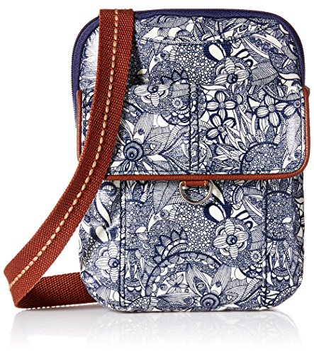 Sakroots Wynnie Small Flap Messenger-Canvas, navy spirit desert