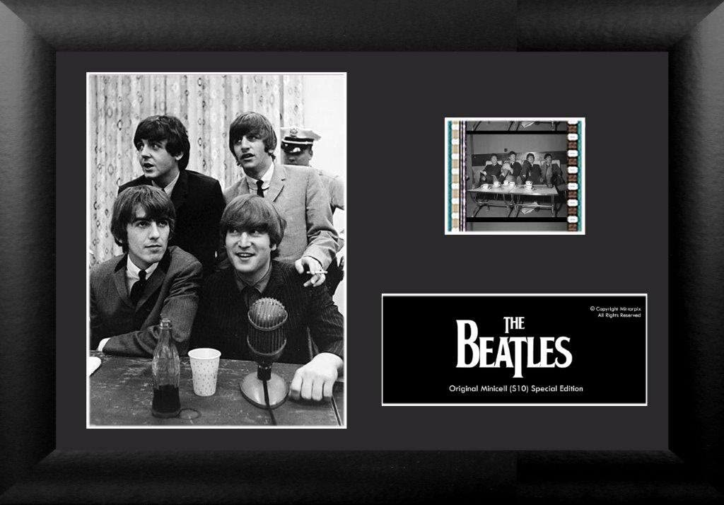 Trend Setters The Beatles 35mm Film Cell Framed Desktop Movie Cell Display w/COA