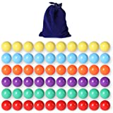 Marbles Game,Aggravation Game,Traditional Marbles Games Witlans 60pcs Chinese Checker Game Replacement Balls,6 Solid Color 14mm Acrylic Game Marbles for Chinese Checker,Marble Run