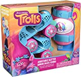 PlayWheels Trolls Kids Roller Skates with Knee Pads - Junior Size 6-12