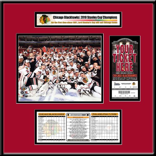 NHL Chicago Blackhawks Ticket Frame Jr. - 2010 Stanley Cup Champions