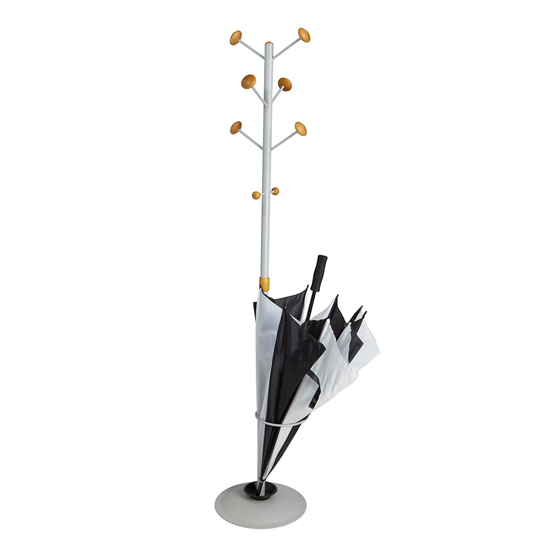 Mind Reader Standing Coat Rack Hat Hanger Holder Hooks for Jackets and Purses Umbrella Stand with Metal Base – CAPCR-SIL