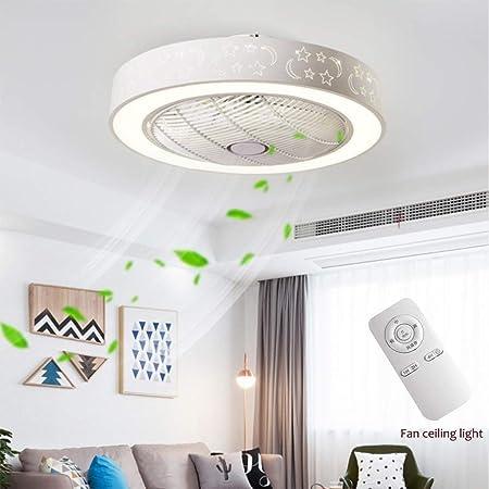 LED Ventilatore a Soffitto Lampada 20w telecomando 3 stadi salotto cucina camera corridoio