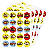 AIMIKE Superhero Stickers, 1.5 inches 100 Stickers