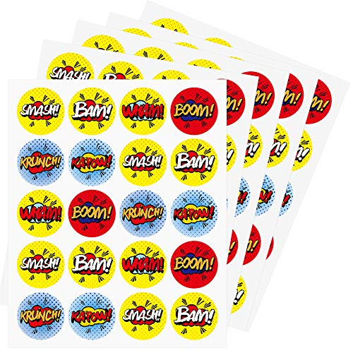 AIMIKE Superhero Stickers, 1.5 inches 100 Stickers -