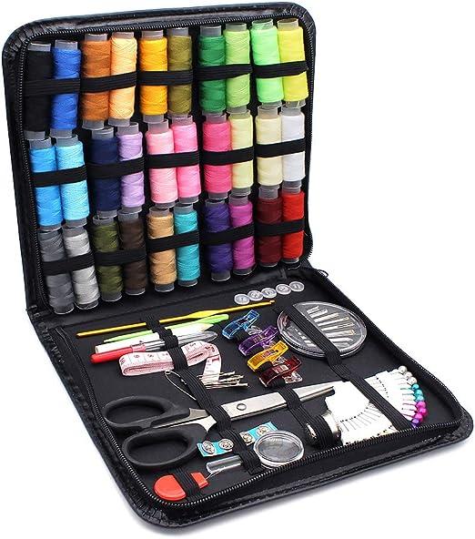 Subtop Kit de Costura, Kit de Costura con 112Pcs Accesorios de Costura y Bolsa de Transporte, Kit de costura portátil para bricolaje, viajes, adultos, niños, principiante, ama de casa: Amazon.es: Hogar