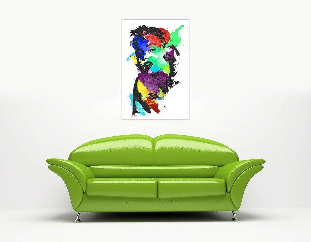 30,5/x 20,3/cm A4 30/cm x 20/cm Canvas It Up Marilyn Monroe Photo Couleur Splash Impressions sur Toile D/écoration Images Art Mural Taille