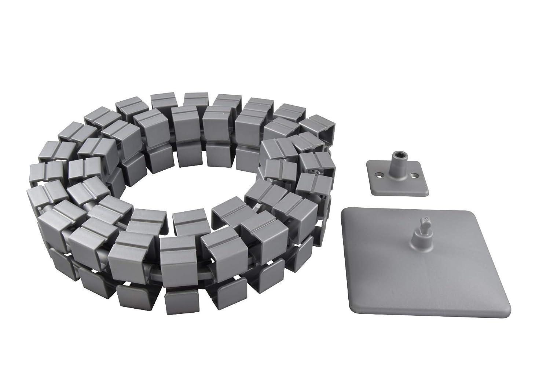 Kabelf/ührung eckig Kuba 1 L/änge:1254 mm Kabelschlauch Made in Germany von Oskar Lehmann Silber