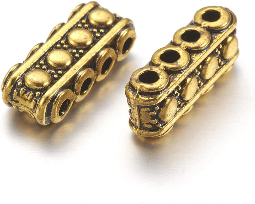 19mm 10 holes spacer bar seperator for 10 strands space bar seperator for multi strands jewlery ideal for 3mm beads 1pc