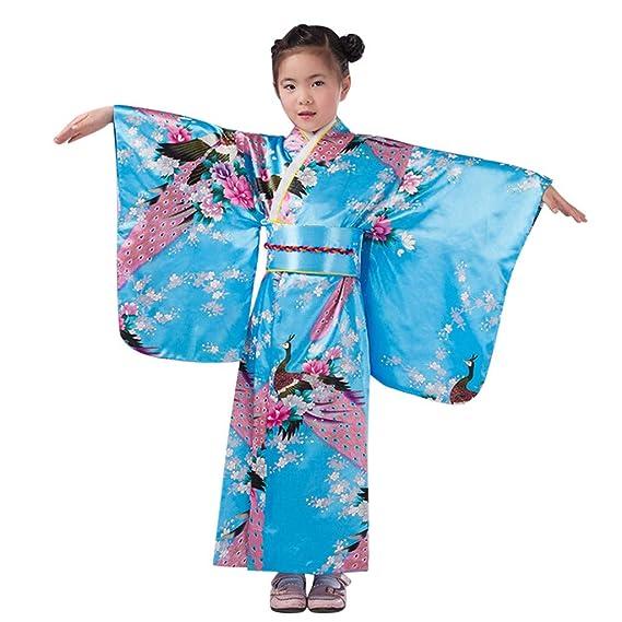 Hengzi Falda para niña bebé niñas Trajes Ropa Kimono Bata Japonesa ...