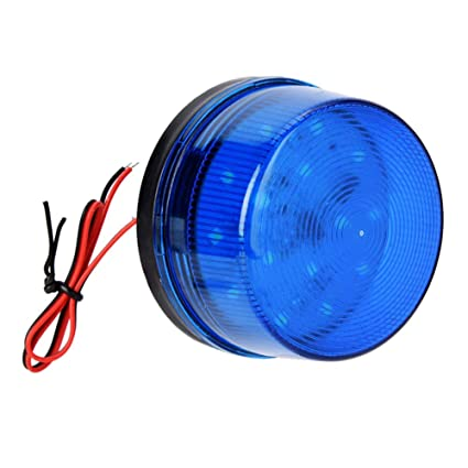 12V Azul señal de alarma, Alarma de luz estroboscópica de ...