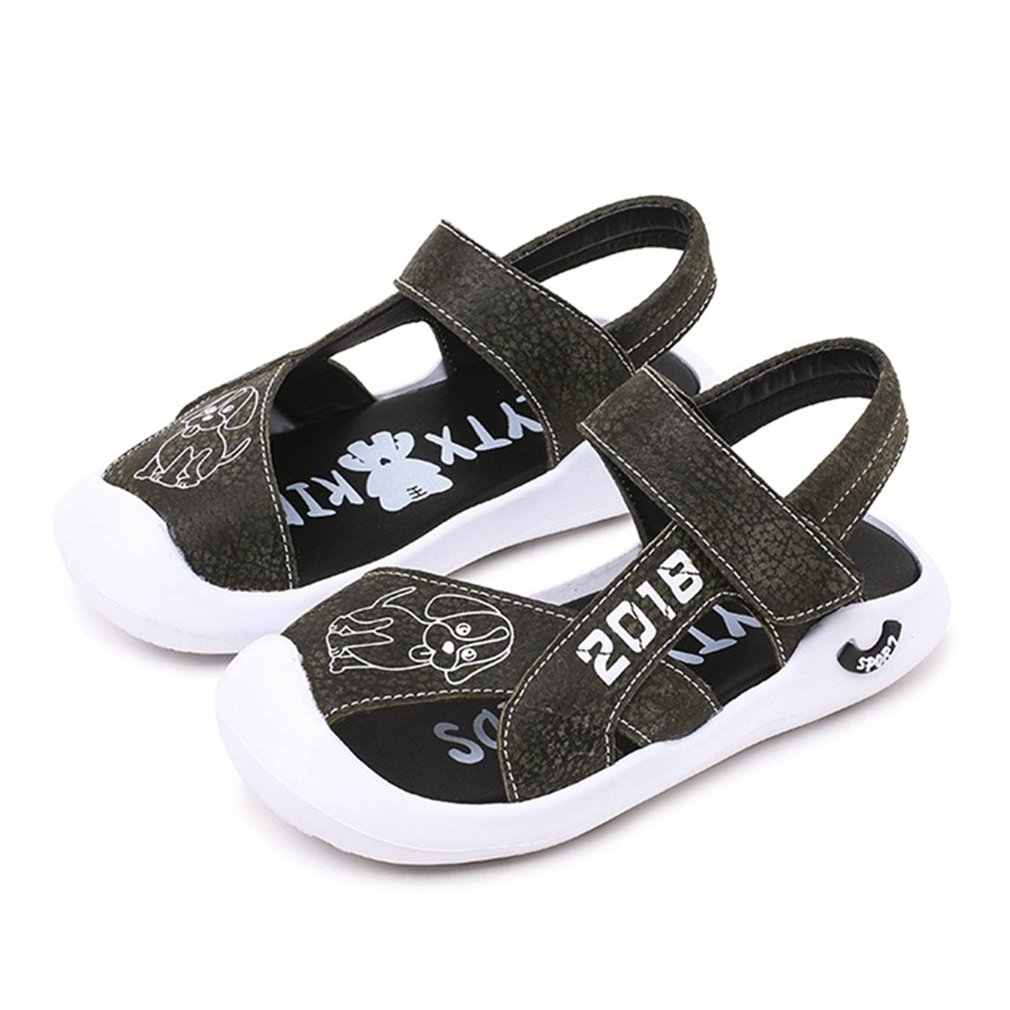 CYBLING Boys Sport Sandals Summer Breathable Closed-Toe Strap Walking Shoes (Toddler/Little Kid)