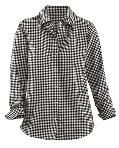 National Gingham Shirt, Black, Large (Front Gingham Shirt)
