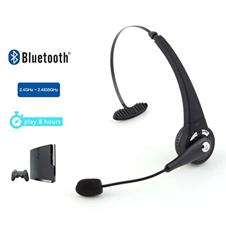 Delicacydex Auriculares Bluetooth Auriculares inalámbricos Auriculares Estéreo para Sony Playstation 3 PS3 con micrófono