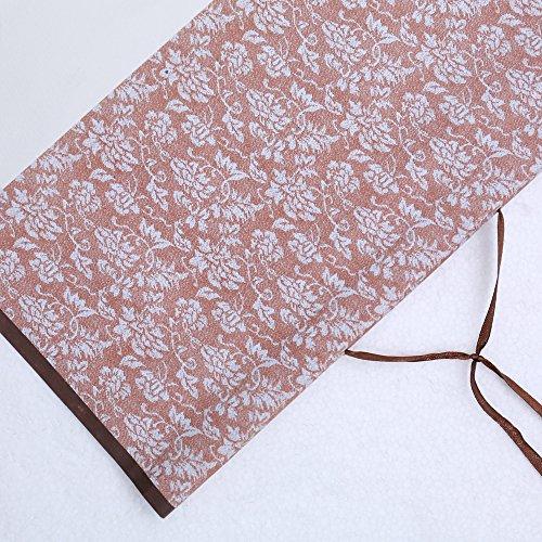 JZ014 Hmayart kakejiku Blank Mounting Hanging Wall Scroll Set for Kanji, Sumi and Chinese Calligraphy (6pcs/Set) (Scroll Size: 14.96'' x 41.34'' (38 x 105 cm)) by Hmayart (Image #3)