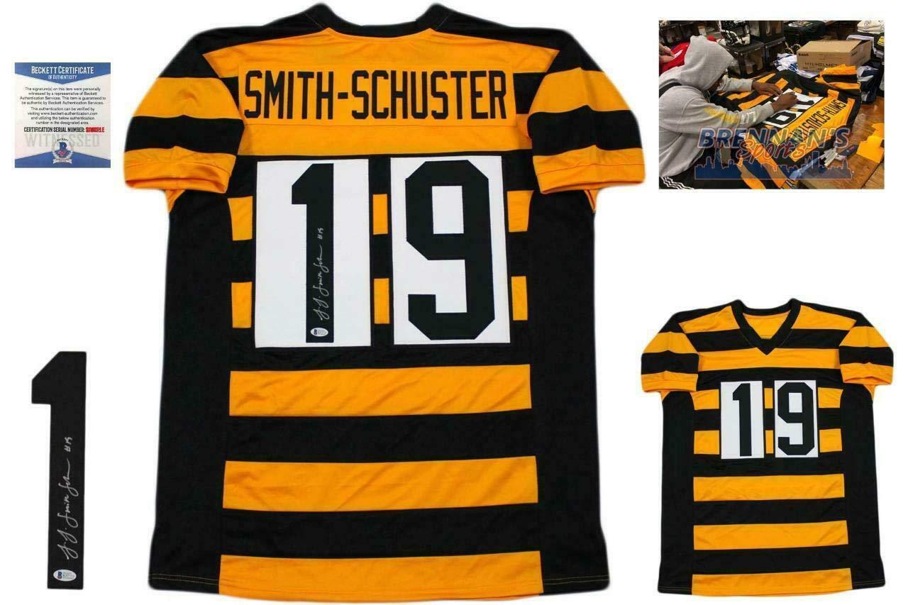 new concept a710f 0197d Juju Smith-Schuster Autographed Jersey - Beckett Bumblebee ...