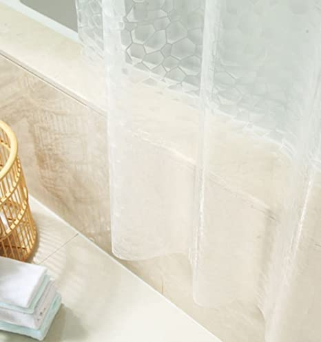 Sfoothome Small Size Heavy Duty 100 EVA 3D Effect Bath Curtain Waterproof Mildew Free Shower Or Liner Stall Clear 36 Inch Wide 72