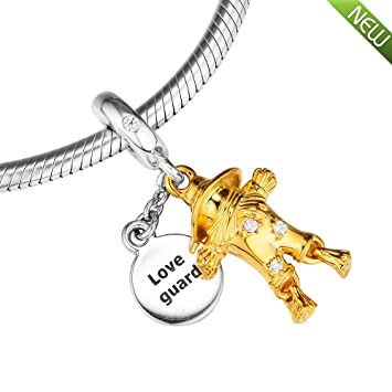 0d60e35a0 PANDOCCI 2018 Autumn Scarecrow Guardian Shine Clear CZ Bead 925 Silver DIY  Fits for Original Pandora