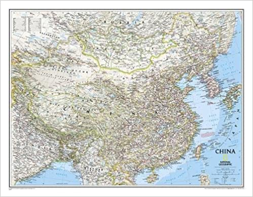 Image Of China Map.National Geographic China Classic Wall Map 30 25 X 23 5 Inches