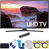 Samsung UN50MU6300FXZA 50'' 4K Ultra HD Smart LED TV (2017 Model) Plus Terk Cut-the-Cord HD Digital TV Tuner and Recorder 16GB Hook-Up Bundle
