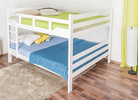 Etagenbett 80 160 : Kinderbett personen etagenbett leon lego iii weiß cm