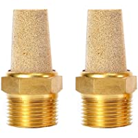 TOUHIA 3//8 PT Sintered Bronze Exhaust Muffler with Brass Body Protruding 5PCS
