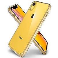 Spigen Ultra Hybrid, iPhone XR Hülle, 064CS24873 Einteilige Transparent Handyhülle Durchsichtige PC Rückschale mit Silikon Bumper Schutzhülle Case (Crystal Clear)