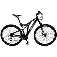 Bicicleta Aro 29 KSW Impact FULL Dupla Suspension Câmbios Shimano 21 Marchas Freio a Disco