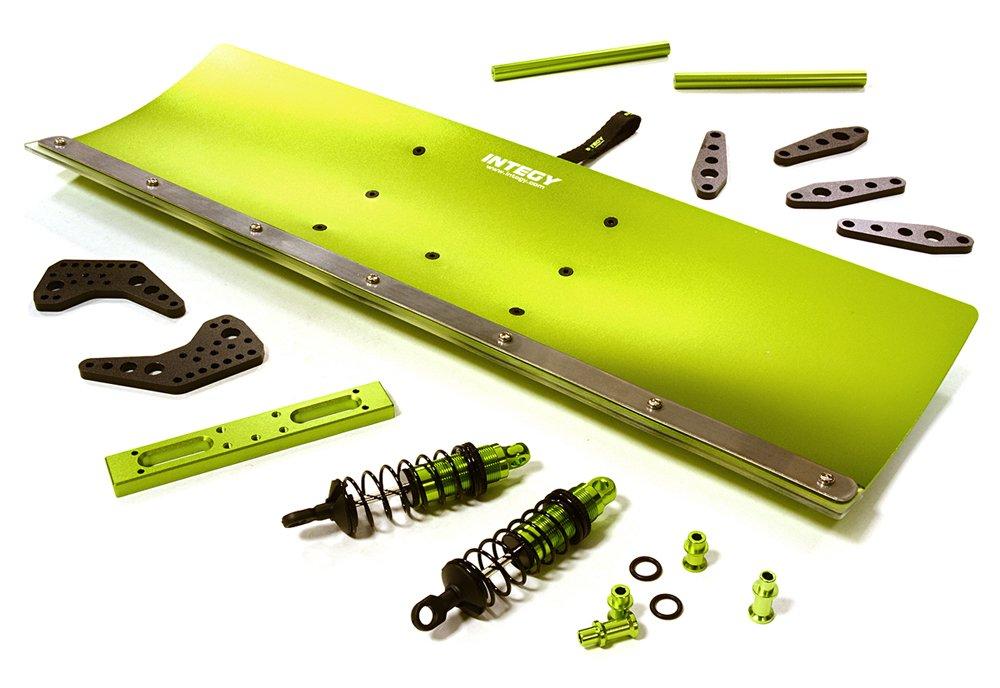 INTEGY RC C27057GREEN - Kit de nieve de aleación mecanizada para Traxxas 1/10 Stampede 2WD y Slash 2WD