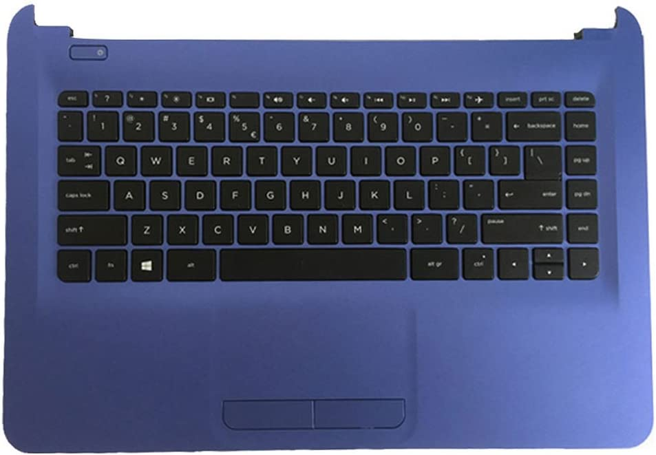Laptop Replacement Keyboard Fit HP Home 14-AC104LA 14-AC109LA 14-AC110LA 14-AC146LA 14-AC147LA 14-AC154LA 14-AC186LA 14-AC187LA US Layout with C Shell Blue
