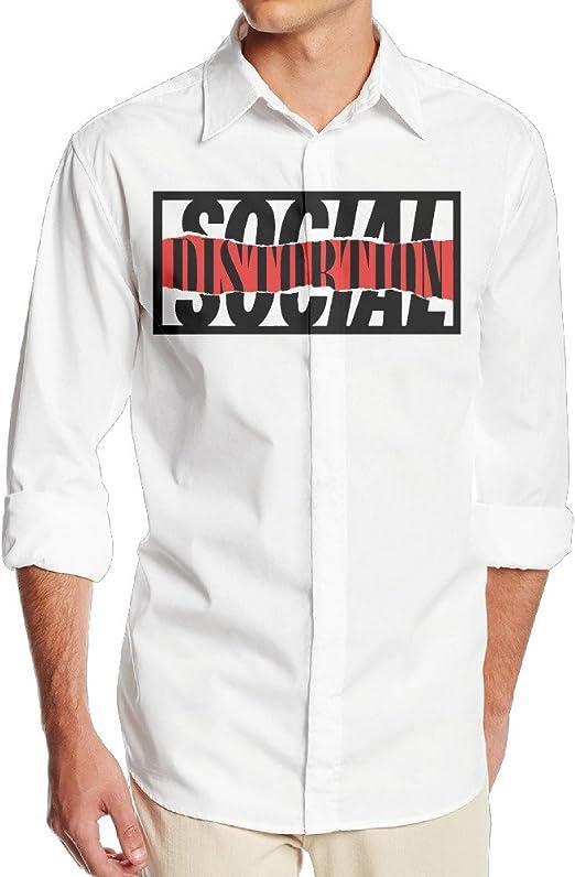 okaka Rock Punk Heavy Metal banda social sin camisa de vestido de manga larga bolsillo para hombres: Amazon.es: Ropa y accesorios