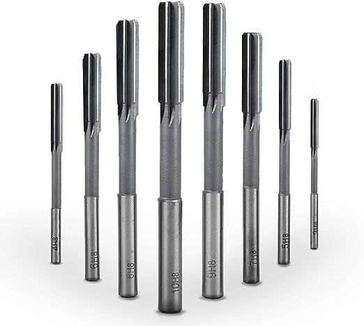 "1//8/"" Chucking Reamer HSS H8 6 Straight Flutes Machine Milling Cutter Tool"