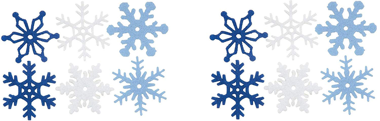 CREATIVE IMPRESSIONS CI63000 1.25-Inch Felt Snowflakes, Medium, 36 Per Package (Тwo Рack)