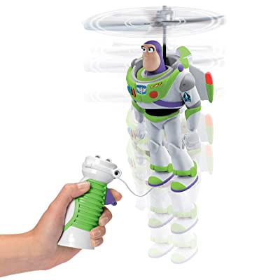 Disney Toy Story Pixar 4-Cable Flying Buzz Lightyear, Multi Colour: Toys & Games