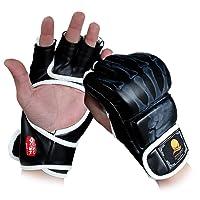 GranVela® Guantes De Boxeo, ZOOBOO Guantes De Combate MMA Entrenamiento De Boxeo mitad de los mitones, Muay Thai, Sparring