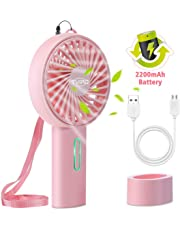 Tvird Handheld Fan Portable, Mini Fan Hand Fan Rechargeable Battery Operated USB Fan Electric Fan Desk fan Table Fan Battery Hand Fans for Women for Office Room Outdoor Traveling