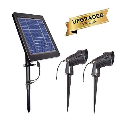 Amazon.com: OurLeeme Focos solares al aire libre mejorados ...