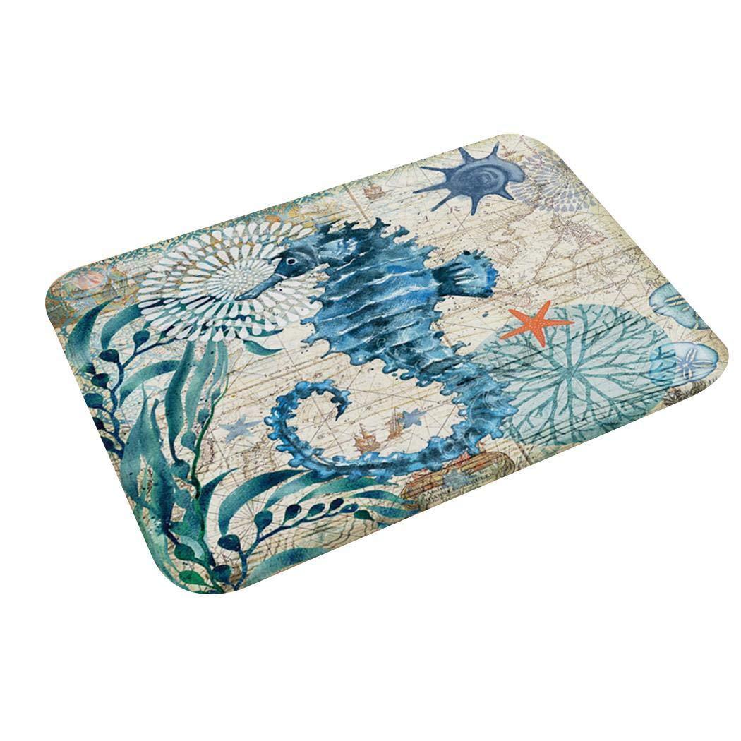 Junio1 Tapis de sol Tapis de porte Chambre Salle de bain Maison Absorbant Tapis de tapis antid/érapant Tapis