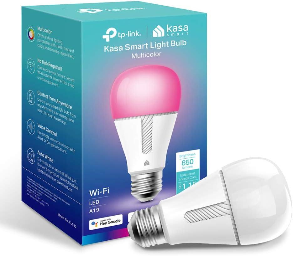 TP-Link Kasa KL130 10.5W Smart LED Multicolor WiFi Light Bulb $11.19 Coupon
