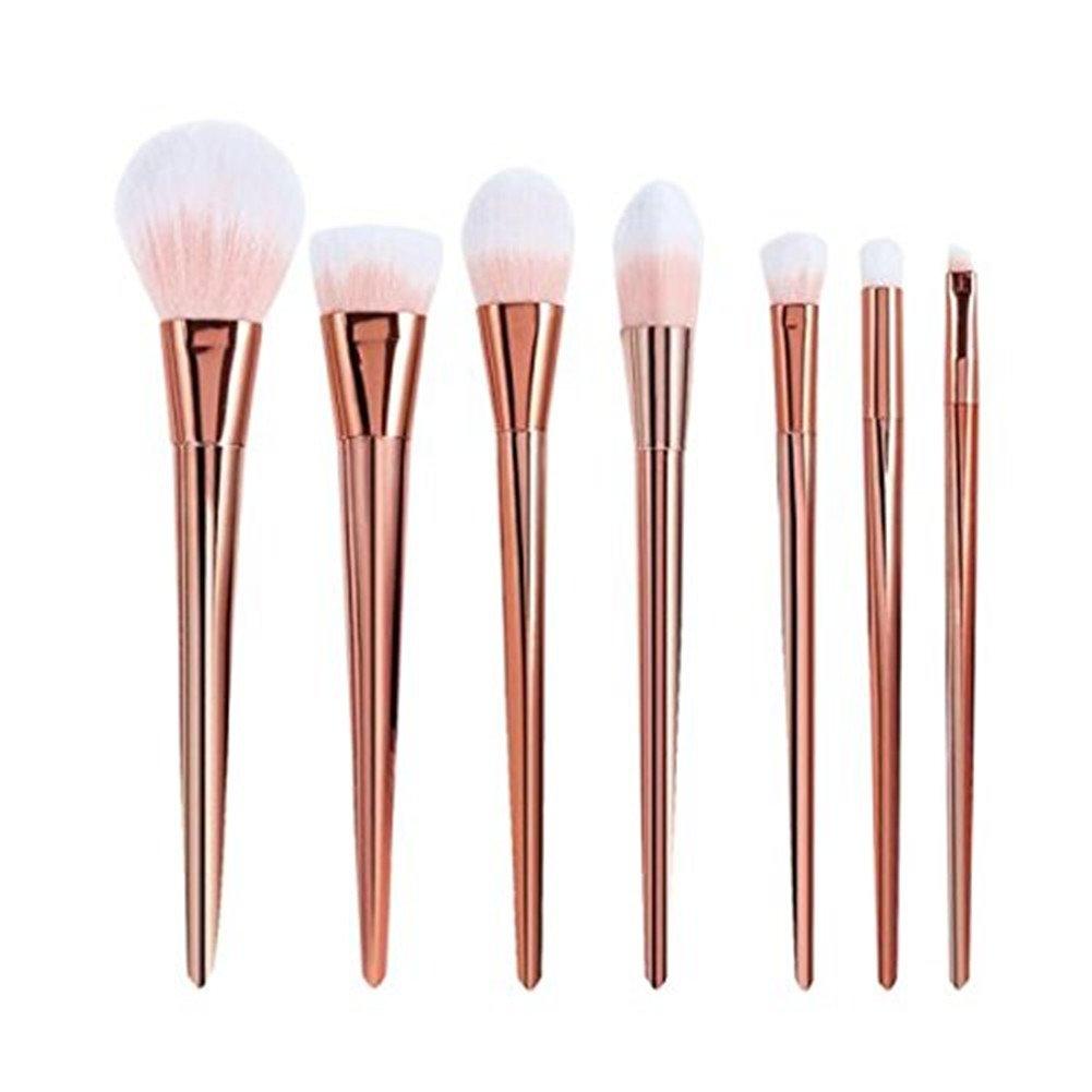 7Pcs Set Professional Cosmetic Brush High Brushes set Make Up Blush Brushes Makeup Brush (Rose Gold)