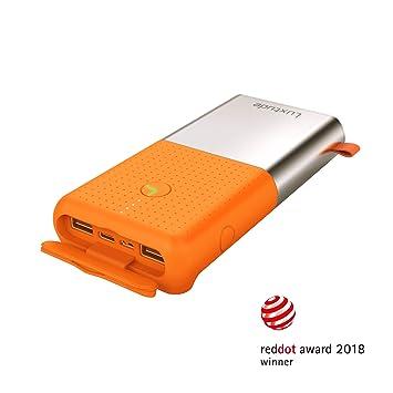 Luxtude 20000mAh Bateria Externa, Power bank con luces LED, 2 Salidas USB y 2 Entradas (Tipo C&Micro), Cargador Portatil Movil con Protección IP65, ...