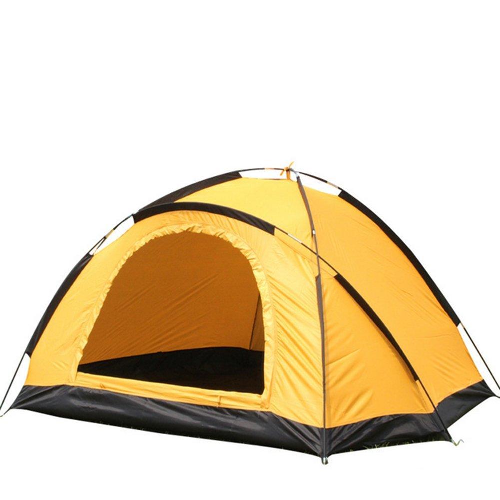 Draussen Campingzelt Einlagige Doppelte Person Regenwasser Handzelte Gelb
