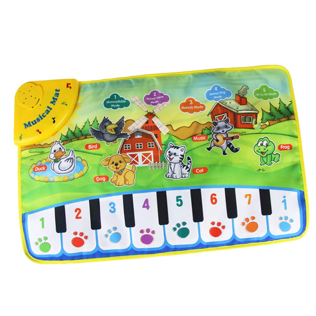 SM SunniMix Durable Piano Mat Electronic Music Carpet Touch Play Blanket, Perfect for Kids 2 to 5 Year Olds Dance & Learn (22x14 inch) by SM SunniMix (Image #6)