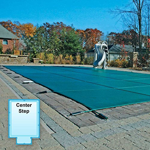 16 x 32 ft. Rectangle Mesh Safety Pool Cover with 4 x 8 ft. Center End Step